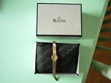 BULOVA N4 17 JEWELS 10K Rolled GOLD VINTAGE WIND-UP LADIES WATCH 1/20 10k BAND