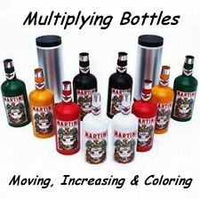MULTIPLYING BOTTLES 10 MOVING INCREASING COLORING ALL MADE OF METAL MAGIC TRICK