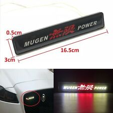 JDM Mugen Power Logo LED Light Car Front Grille Badge Illuminated Decal Sticker