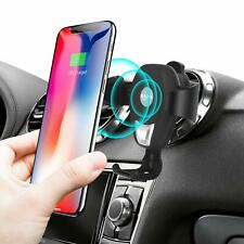 Wireless Car Charger, Bavad Qi Fast Wireless Charger Car Air Vent Mount Phone s8
