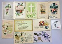 Lot of 10 Vintage 1900s Easter Flowers Greetings Holiday Post Cards  #9