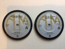 2 X Vinyl Coasters The Police, Retro Birthday Anniversary Gift Quirky Present