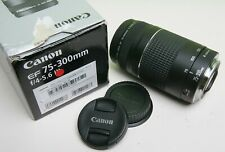 NICE CANON EF 75-300mm f4-5.6 III TELEPHOTO LENS - EOS FILM AND DIGITAL