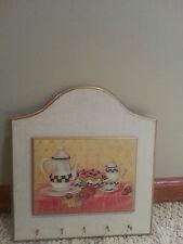 Tea party pie wall 5 Key holder wall decor new free shipping