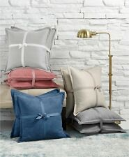 """Lacourte Handcrafted Chenille Set of 2 Square 20"""" Decorative Pillow Grey i455"""