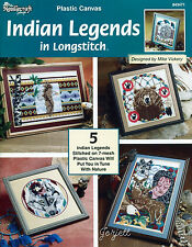 Indian Legends in Longstitch Pictures plastic canvas patterns OOP new rare