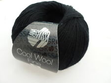 NEW : Cool Wool Fine 50g Lana Grossa Merino Wool Color Colour 16 Black