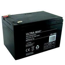 Ultramax NPG12-12 12V 12AH (comme 14Ah & 15Ah) urgence lumière éclairage gel batterie