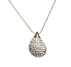 Mikey London NEW! Gold Tone Crystal Teardrop Pendant Necklace