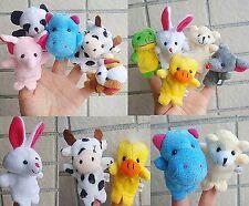 10 Animal Farm Finger Puppet Toy Baby Boy Girl Learn Story Gift Party Bag Filler