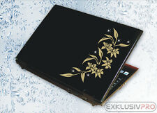Notebook Laptop Tablet Aufkleber Swarovski Strass Tattoo Blumen Ranke Sticker 05