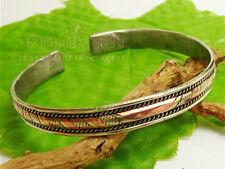 3-color Copper Braided Amulet Cuff Bracelets Wholesale Resale Lot 5 Pcs Tibetan