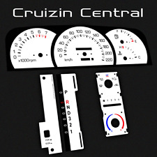Plastic WHITE DIALS Holden Commodore Level 2 VN VP VR VS gauge dash tacho speedo
