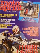 Motosprint 44 1983 Vespa 125 PK - Test Honda CX 650 Turbo  [SC.31]