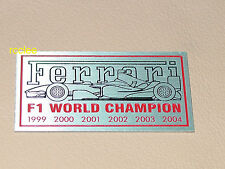 Ferrari F1 Champion Dash Emblem Badge Plate Enzo F430 360 355 599 456 Italia 2