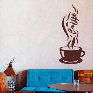 Wandtattoo Kaffee Tasse Coffee Cafe Aufkleber Küche Wall Art Wand Tattoo #2004