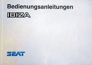 Bedienungsanleitung SEAT IBIZA - Artikelnummer D.L. B-9016-1991