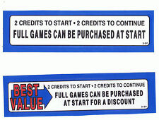 Nba Jam Tournament Coin Door Stickers New! Free Shipping!