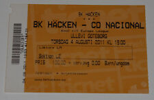 OLD TICKET EL BK Hacken Sweden - CD Nacional Funchal Portugal in Goteborg