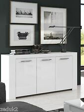 Cubo White Soft Gloss Sideboard Lounge Dining Room Furniture