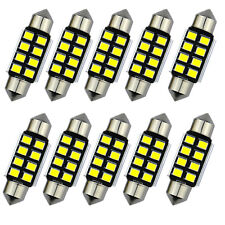 2pcs LED 36mm Pure White canbus C5W Bulbs 2835 SMD License Plate Light