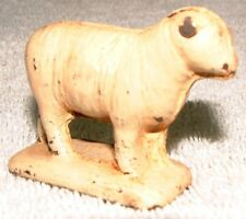 "Vintage 1930's Auburn Rubber Hard Rubber White Sheep 2.25"" Long - 1.5"" Tall"
