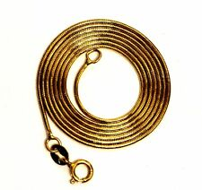 """14k yellow gold snake chain necklace .84mm 2.7g estate 18"""" vintage antique"""
