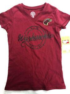 CFL ULM Warhawks Girls Logo Shirt - S - Burgundy - C354