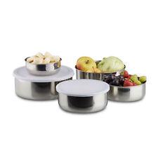 Schüssel Set 5-teilig aus Edelstahl, Küchenschüsseln mit Deckel zur Aufbewahrung