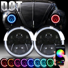 For VW Beetle Classic DOT RGB 7 Inch LED Headlights Upgrade Hi/Low Beam Round