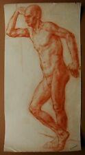 Russian Ukrainian Soviet Painting realism nude male figure man portrait