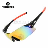 ROCKBROS Cycling Sunglasses UV400 Bike Bicycle Sports Glasses Goggles Black Red