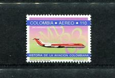 Colombia C855, MNH, Airplane McDonnell Douglas 1992. x23565