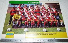 CLIPPING POSTER FOOTBALL 1990-1991 AS MONACO ASM ROCHER LOUIS II