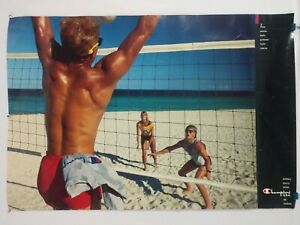 CHAMPION - USA ATHLETIC APPAREL - VOLLEYBALL ADVERTISING POSTER - ROLLED 23x34