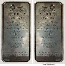 Plaque de gravure ou imprimerie en métal LA BOUTIQUE DANOISE vers 1960