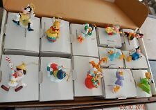 Grolier Disney Christmas ANGELS Ornaments Lot of 8 in orig boxes - Mickey Tigger