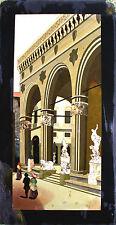 VIEW OF THE LOGGIA DELLA SIGNORIA. FIRENZE. INTARSIO OF PIETRE DURE. ITALY. XIX.