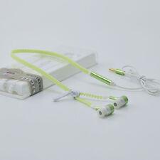 Luminous Light Zipper Headphone Earphone Headset 3.5mm In-Ear Headphones Earbud