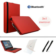 "3 IN 1 SET 10.1"" Bluetooth Keyboard Case For Samsung Galaxy Note (2014) - Red"