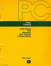 "JOHN DEERE 165 3-POINT HITCH  BACKHOE  PARTS MANUAL jd ""NEW"""