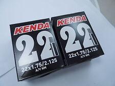 2 x Kenda BIke Mtb Inner Tubes 22 x 1.75 / 2.125 SCHRADER VALVE