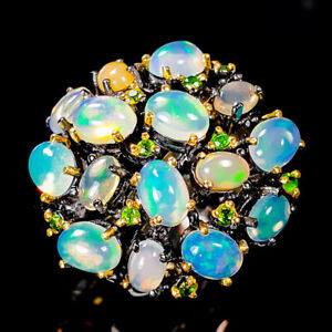 Opal Ring Silver 925 Sterling Luxury Design Size 7 /R135949