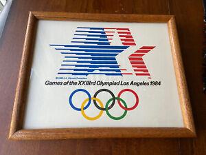 1984 Los Angeles Summer Olympics Stars in Motion Flag Framed LA84 12x15