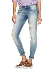 Misses GAP Always Skinny DESTRUCTED Faded DENIM JEANS  6 28  L  LONG