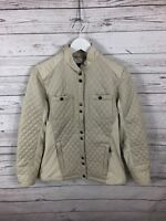 BARBOUR Reins Quilted Jacket - UK12 - Beige - Great Condition - Womens