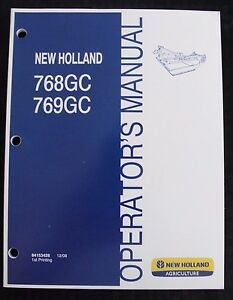 NEW HOLLAND 768GC 769GC ROTARY CUTTER MOWER OPERATORS MANUAL CLEAN