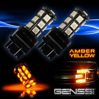 4x 7440 7443 LED Amber Yellow T20 18SMD Brake Stop Turn Signal Lights Bulbs DRL