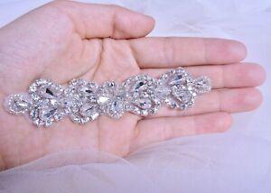 Rhinestone Wedding Belt Craft Motif Crystal Headband Evening Dress  DIY Applique