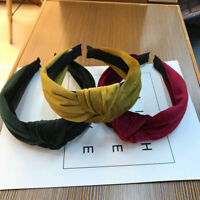 Boho Women's Cross Solid Knot Wide Band Hairband Headband Hair Hoop Accessories